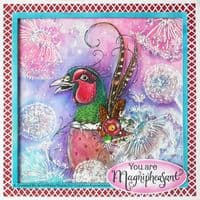 Pink Ink Designs - MagniPheasant A5 Clear Stamp Set